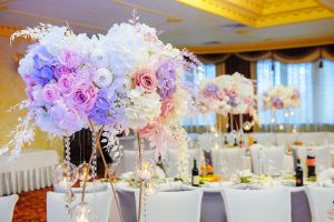 Декорирование свадебного банкета.